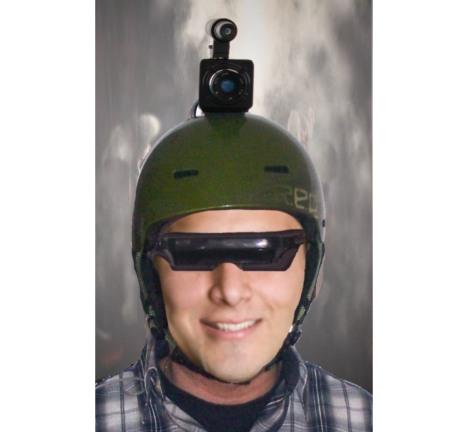 Helm mit videobrille vergleichbar mit gen2 nachtsichtgerät 4 fache